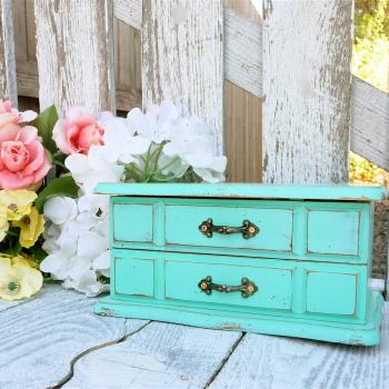 SHABBY CHIC Jewelry Box / Armoire - $129.00