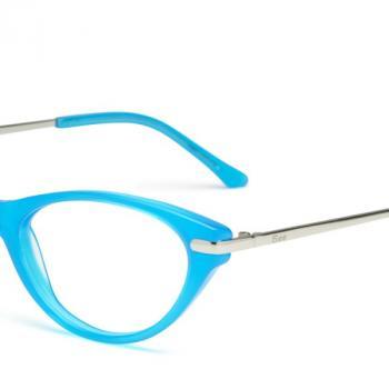 Shuron  EYEGLASSES Light Blue, clubmaster style - $150.00